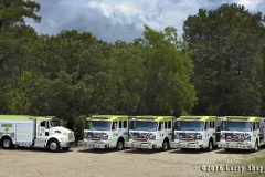 Five new Rosenbauer fire trucks delivered in Luoisiana. Larry Shapiro photo