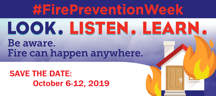 Save the Date: Fire Prevention, Oct. 6-12